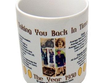 1930 Taking You Back In Time Coffee Mug