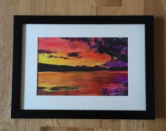 Highland Sunset Painting.