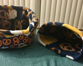 Beer and Pretzel cuddle cup and sack set with matching beer and pretzel fleece.