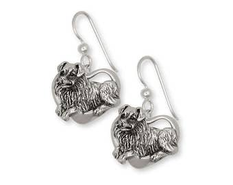 Australian Shepherd Earrings Jewelry Sterling Silver Handmade Dog Earrings AU11-E