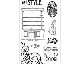 Graphic 45 ARTISAN STYLE 1 Cling Stamps IC0326S 1.cc72