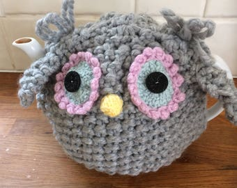 Owl Tea Cosy Hand Knitted