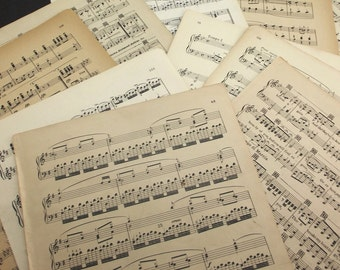 vintage sheet music 100 large 9 x 12 pages instrumental and song book pages