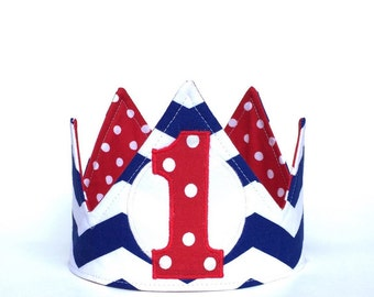 Boy first birthday crown, Nautical First Birthday Crown, 1st Birthday Crown, First Birthday Hat