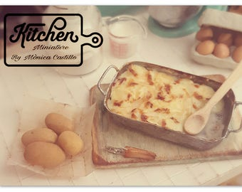 Set potato gratin 1/12 scale