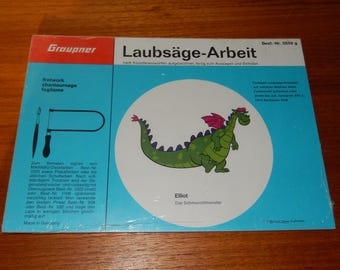 Vintage Graupner Painting and Sawing Wood Craft of Elliot from Disney's Pete's Dragon - Made in Germany