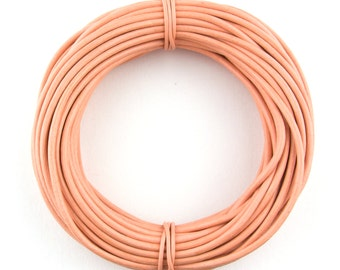 Peach Round Leather Cord 1.5mm, 10 Feet
