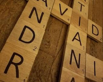 Individual Scrabble Letter Tiles