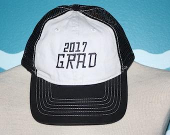 Custom Baseball Cap - Graduation embroidered baseball cap - Great custom gift - baseball hat embroidered - Grad 2017 ball cap