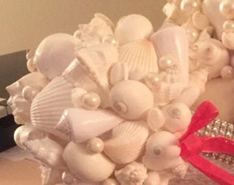 Xo bouquets 16 inch bouquet shells beach wedding