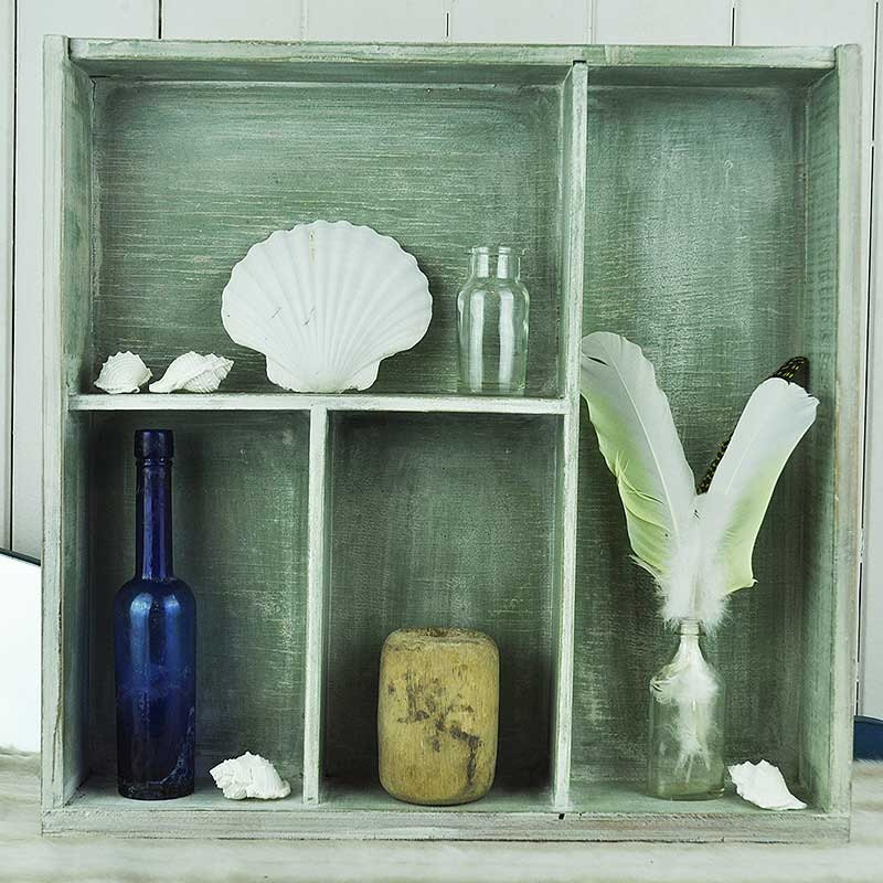 Upcycled Drawer Into Green Washed Shelf From Kisscreatexx