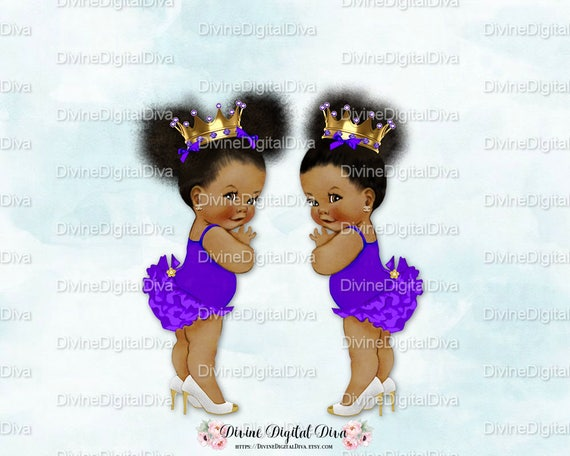 Ruffle Pants Natural Hair Pony Tails Afro Puffs Gold Crown