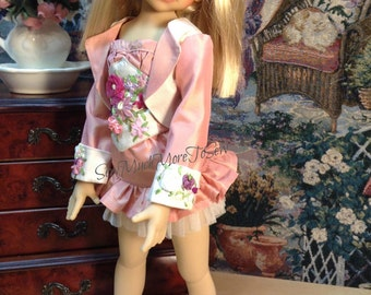 "Kaye Wiggs 43 cm BJD, MSD ,Doll ""Gwen Inspired"" Silk Taffeta and Silk Ribbon Ensemble [ will fit other dolls w/same measurements]"