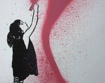 Pink Drawing Girl