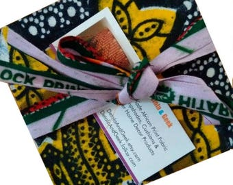 20 African wedding drink coasters, Afrocentric fabric coasters, Bridesmaid groomsmen gift idea, Afro Boho Decor, African party favour