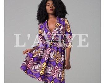 African dress, African clothing Ankara dress, print dress, gathered dress, african print dress, summer dress, african dress (JAMELIA dress)