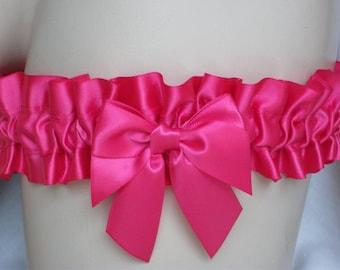 Bright , Pink , Satin Garter , Wedding , Garter , Toss , Throw , Bachelorette , Hen , Bride , Burlesque , Prom , UK