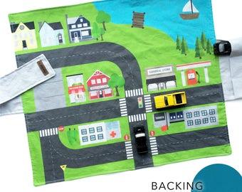 City Travel Car Mat - Mediterranean | Kids Travel Activity | Play Car Mat