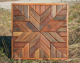 SALE - Star Wall Art - Reclaimed Wood