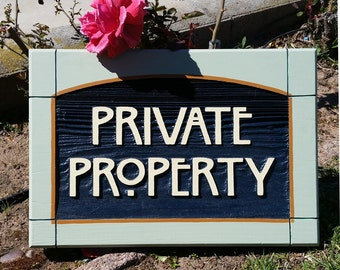 Craftsman Style Private Property sign
