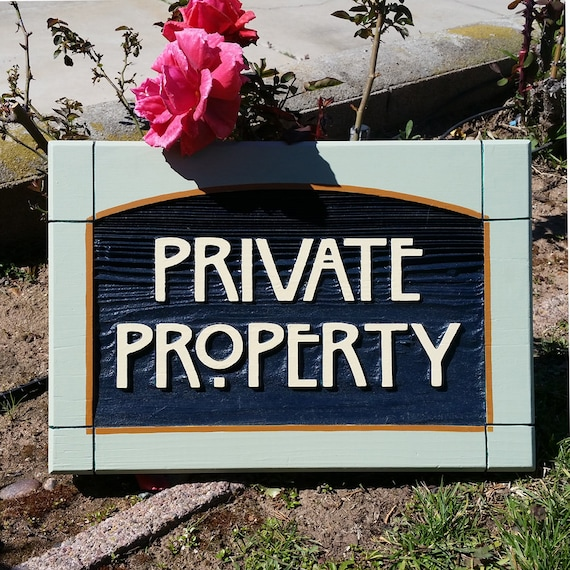 Basket Making Supplies San Diego : Craftsman style private property sign from