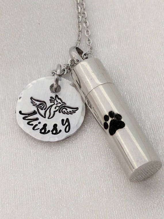 Pet Memorial Jewelry - Pet Loss Urn - Urn Jewelry - Cat Loss Memorial - Pet Loss Keepsake - Pet Loss Gift - Sympathy Gift - Pet Ash Jewelry