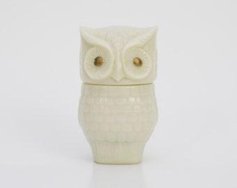 70s Owl Jar - Vintage Avon Lotion Bottle - Retro 1970s Owl Bottle