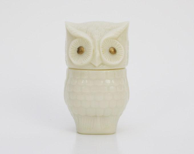 Vintage Avon 1970s Owl Jar - Home Decor