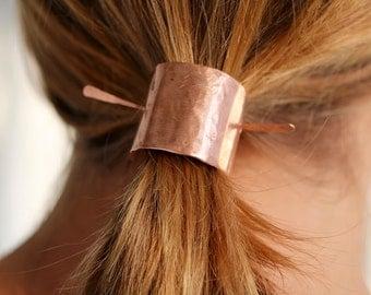 Copper or Brass Hair Barrette