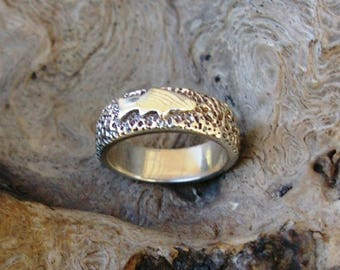 Man's Sterling Silver Trout Ring T1