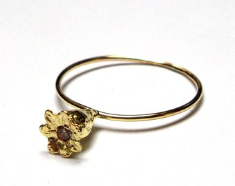 Gold ring - 18K Gold Ring - Solid gold Ring - flower Rings - Diamond Ring - seeds Collection - Free Shipping!!
