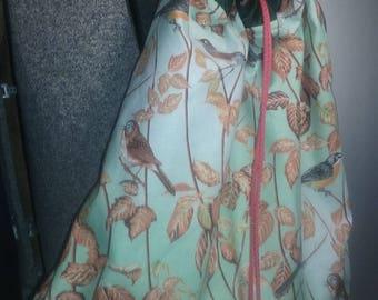bird theme drawstring bag/ backpack/ travel bag/ water resistant bag