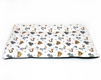 SALE Shih Tzu dog bed, CUSTOM fleece, crate pad, crate bed