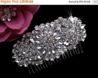 Wedding Comb , Bridal Comb , Rhinestone Crystal Headpiece , Bridal Hair Accessories , Wedding  Rhinestone Comb , Prom Hair Comb