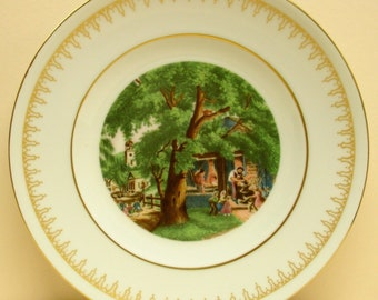 Currier & Ives Collector Plate 760, Village Blacksmith, Bing Grondahl