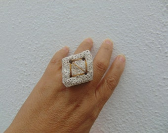 A delicate pumice stone ring.