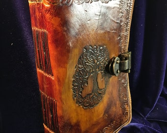 Medieval Leather Tree of Life Journal, 6x9 Blank Pages, Thick Journal, Viking Journal, Celtic Journal, Handmade Worn Journal, Writers Gift