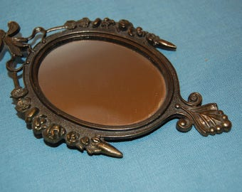 Vintage Mirror, Small Hanging Mirror, Ornate Mirror, Made in Italy, Home Decor, Wall Hanging