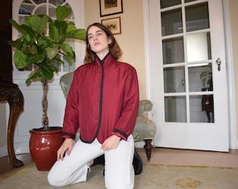 Cranberry Silk Jacket