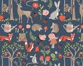 Cottage Garden Poplin - Monaluna Fabrics - woodland animals, woodland fabric, organic fabric by the yard, modern fabric, fox fabric
