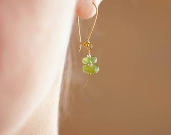 Earrings for every day, Romantic earrings, green earrings, light earrings, dangle, chalcedony earrings, party earrings, summer earrings