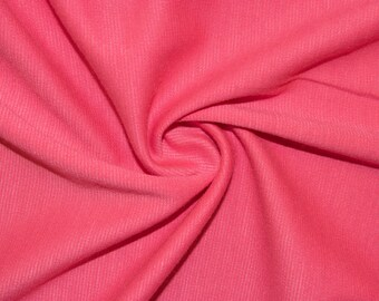 """Bubblegum Ponte Di Roma Double Knit Polyester Rayon Spandex Lycra Stretch Medium Weight Apparel Craft Fabric 58""""-60"""" Wide By The Yard"""