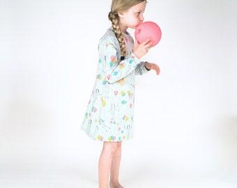 nightdress organic cotton,girls nightdress,kids nightdress,organic kids nightwear,organic nightdress,girl night gown,girls jammie,PJ