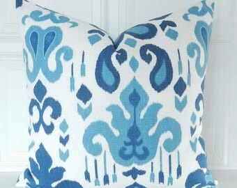 Blue throw pillow Etsy