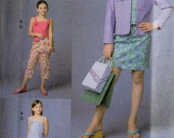 JACKET TOP SKIRT Pants Vogue Girl Pattern 7870  Girls' Sizes 7 8 10