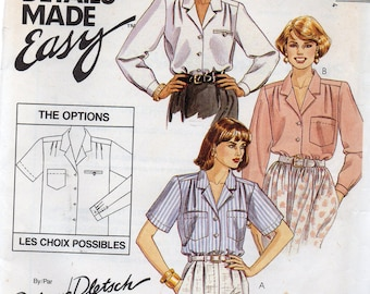 The PERFECT 3 Hour BLOUSE McCall's Palmer Pletsch Designer Details Made Easy Pattern 4880 Misses Size 14
