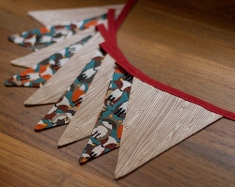 Bunting Flags - Fox and Woodgrain