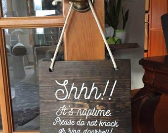 Naptime Door Hanger