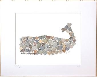 Whale print, whale art, nautical print, coastal print, coastal decor, whale nursery decor, beach house decor, cottage art, nautical nursery