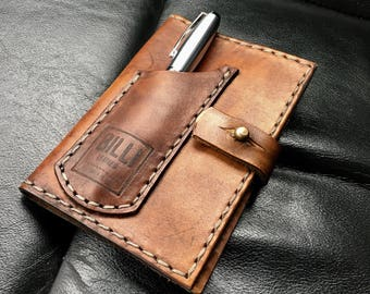 Leather field note cover